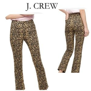 NWT J. Crew Leopard Print Straight Jeans. Size 25